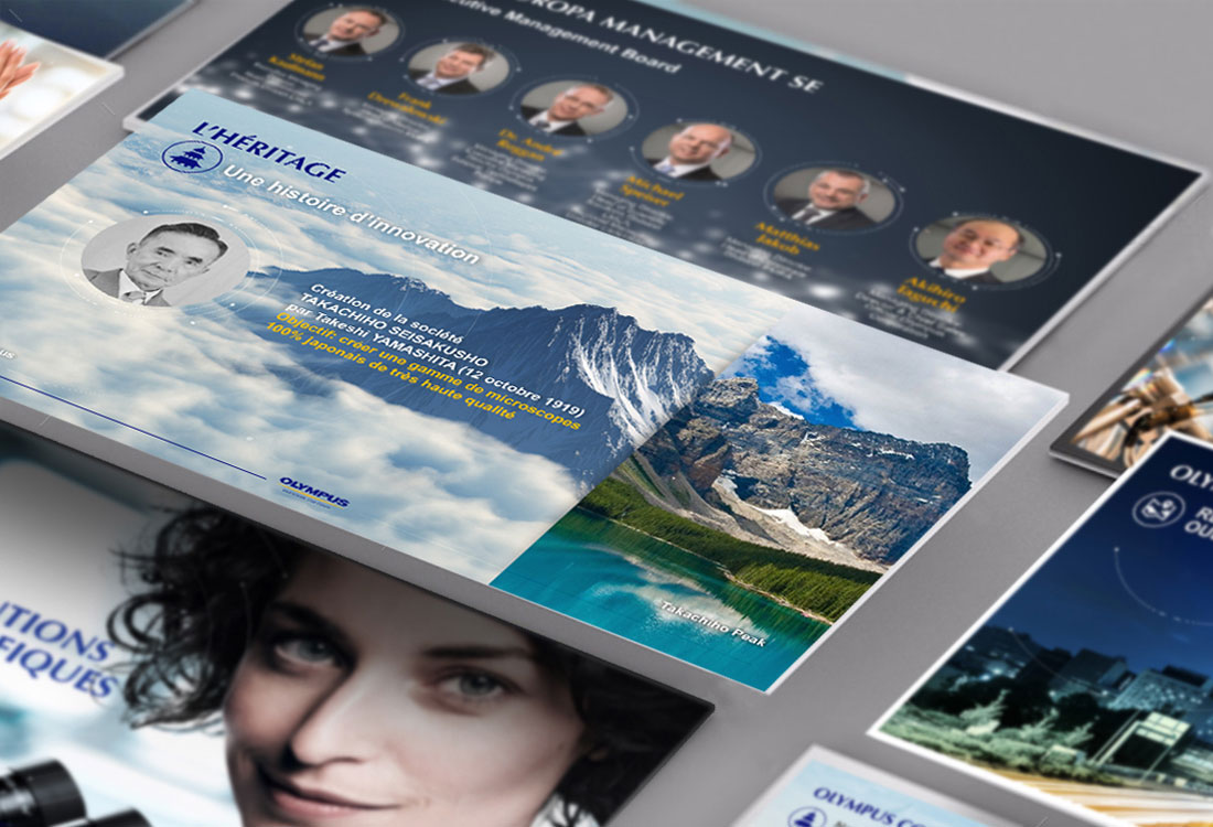 idées fraîches - Slide Design : Olympus